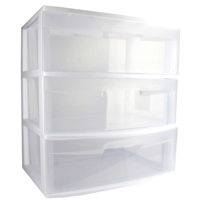 4 x 29308001 Sterilite 3-Drawer Wide Storage Container (4 Pack) 3