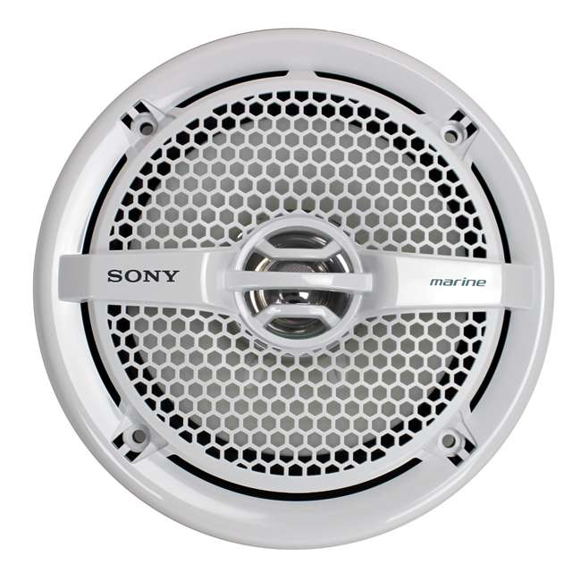 "5 x XSMP1611-U-A Sony 6.5"" 140 Watt Dual Cone Marine Stereo Speakers, White (Open Box) (5 Pack) 1"
