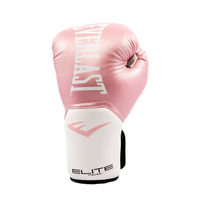 P00001196-U-A Everlast Elite Pro Style Leather Boxing Gloves Size 12 Oz, Pink (Open Box) 1