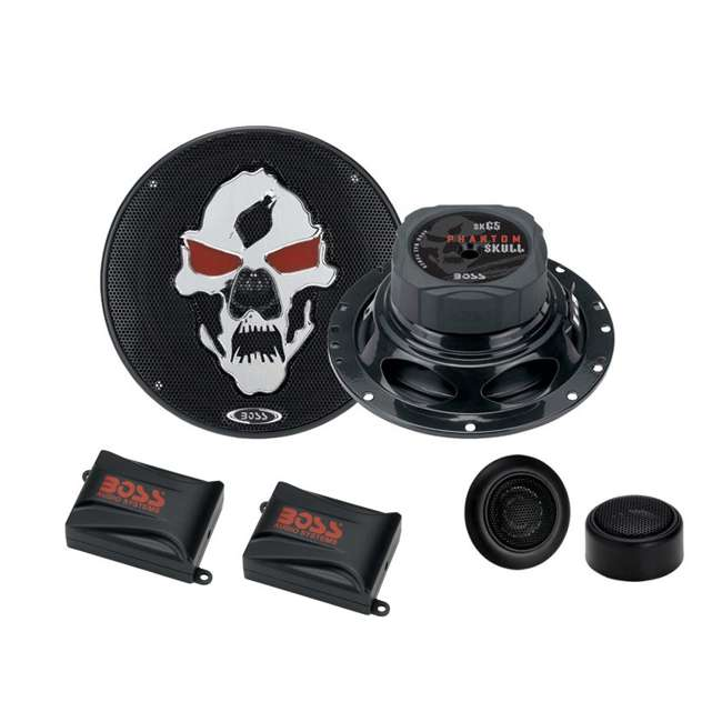 SK65 Boss Skull SK65 6.5-Inch 400W Component Speakers (Pair)