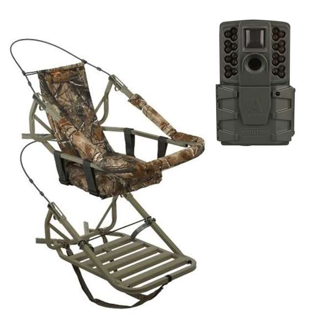 81052-VIPCLASSIC + MCG-13297-A25i Summit Viper Classic Treestand & Moultrie A-25i Trail Camera, Green