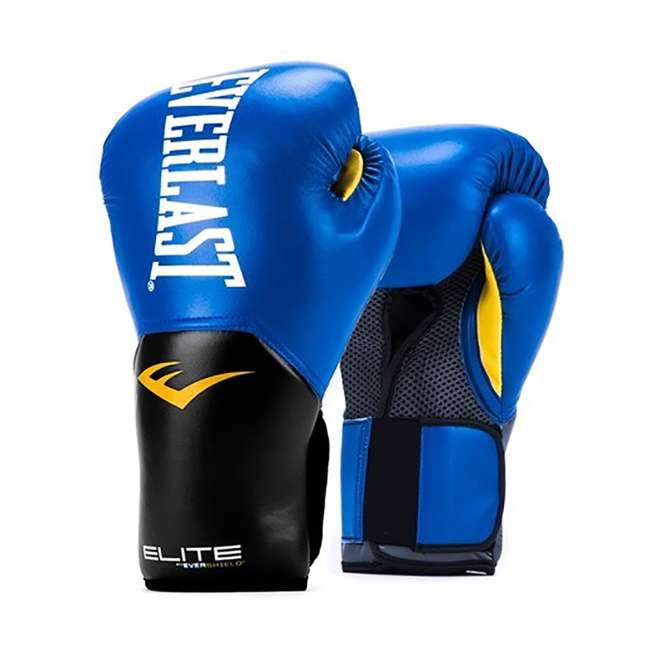 P00001205 + 4455BP Everlast Elite Pro Style 14-Ounce Training Boxing Gloves & Hand Wraps 1