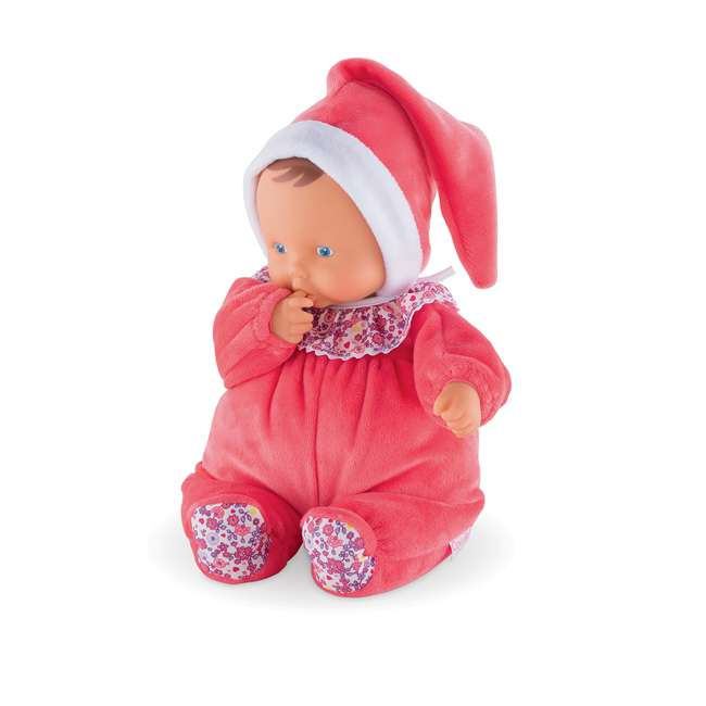"""FBD05 + FRN90 Corolle Mon Doudou Babipouce Floral Bloom 11"""" Soft Body Doll and Canopy Stroller 2"""