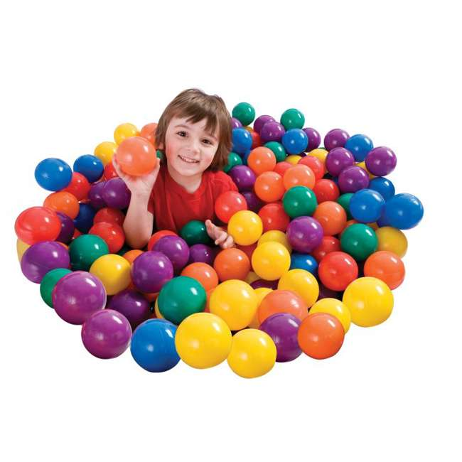 49602EP 100-Pack Intex Small Plastic Multi-Colored Fun Ballz 2
