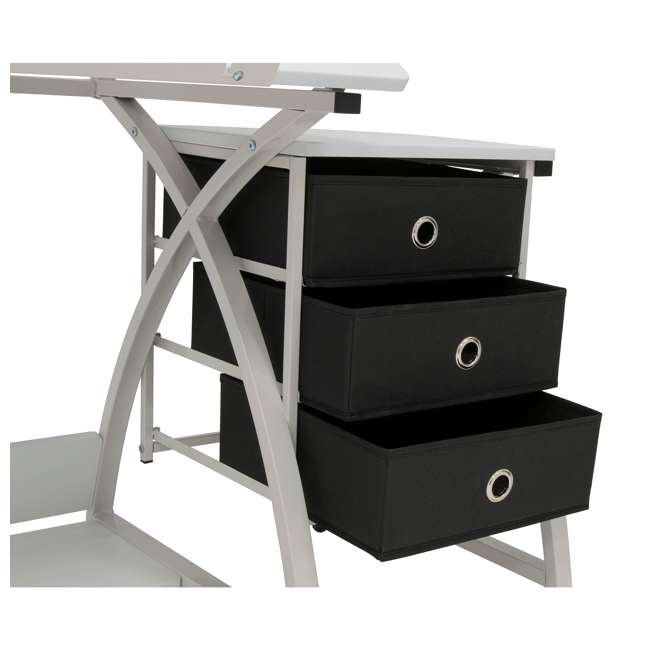 STDN-38016 SD STDN-38016 Comet 2 Piece Craft Table with Adjustable Top and Stool, White 10