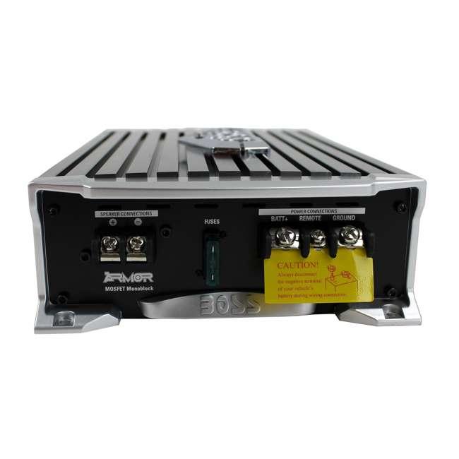 CX122 + AR1500M + AKS8 + QSMBASS12 Boss 12-Inch 1400W Subwoofers + 1500W Mono Amplifier + Amp Kit + Subwoofer Box 9