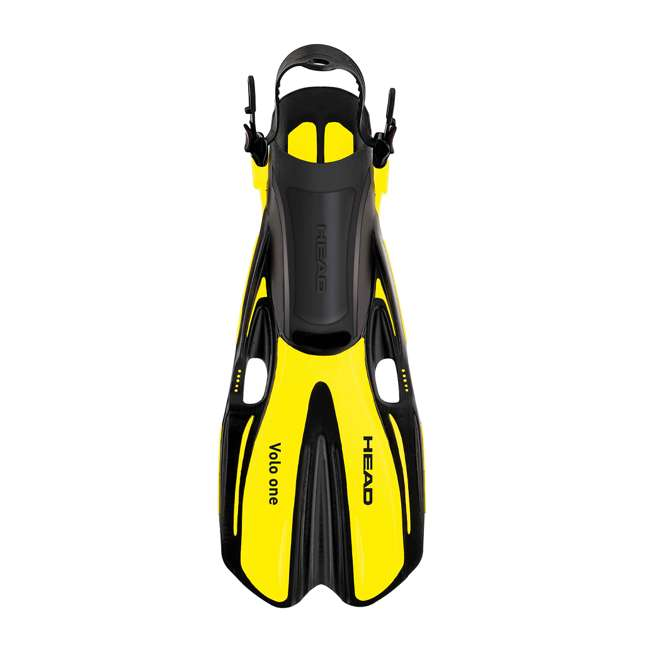 496325-BKBKS-M + 480203SFYLML Head Sea Vu Gray Snorkeling Mask with Yellow Fins, MedLg 3