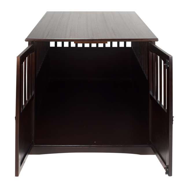 600-84 Casual Home Extra Large Pet Crate End Table, Espresso 5