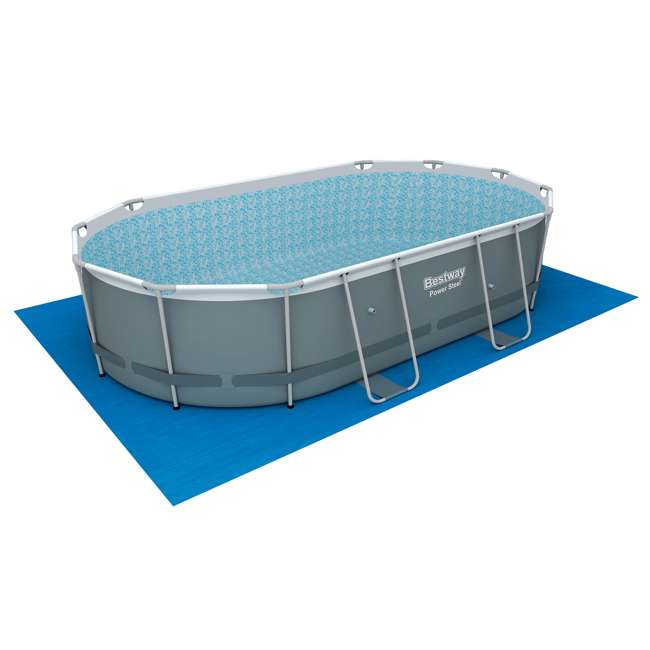 56655E-BW + 58422E-BW Bestway Power 16x10x3.5 Foot Above Ground Pool Set w/ Pump & Powercell Vacuum 7
