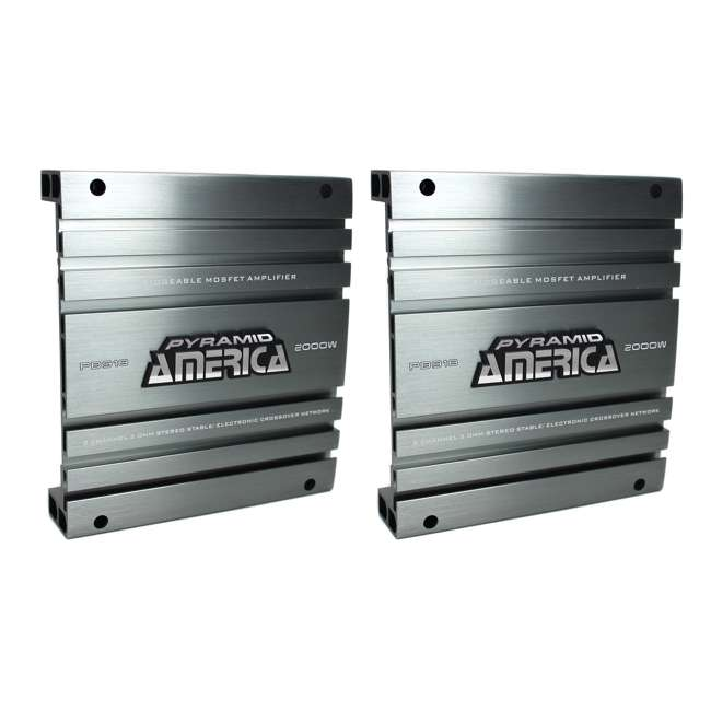 PB918 Pyramid PB918 2000W 2 Channel Amplifier (2 Pack)