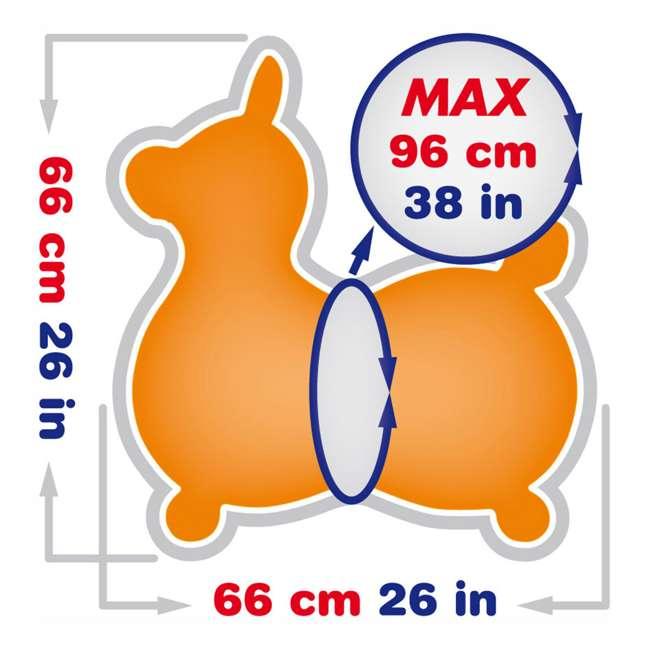 KET-8005 Gymnic 8005 Rody Horse Ride-On Vinyl Toddler Rocking Toy, Orange 3