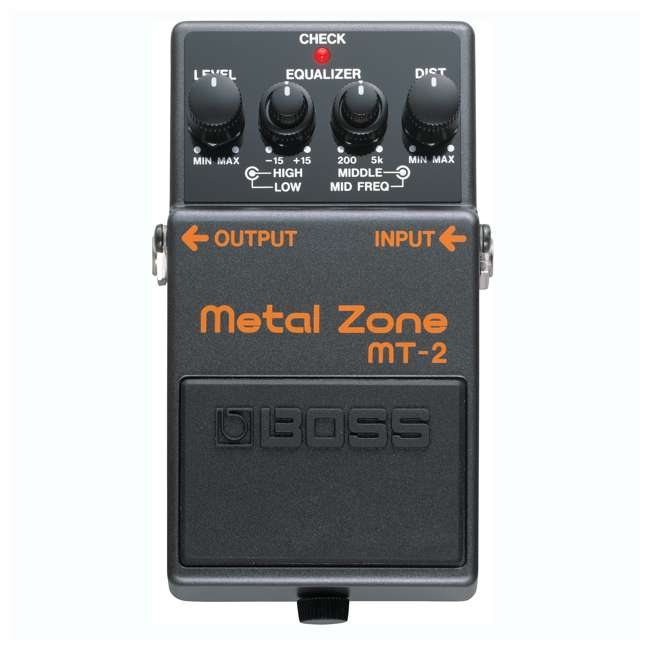 MT-2-OB Boss MT-2 Metal Zone Multi Effects Guitar Pedal Stompbox (Used) 1