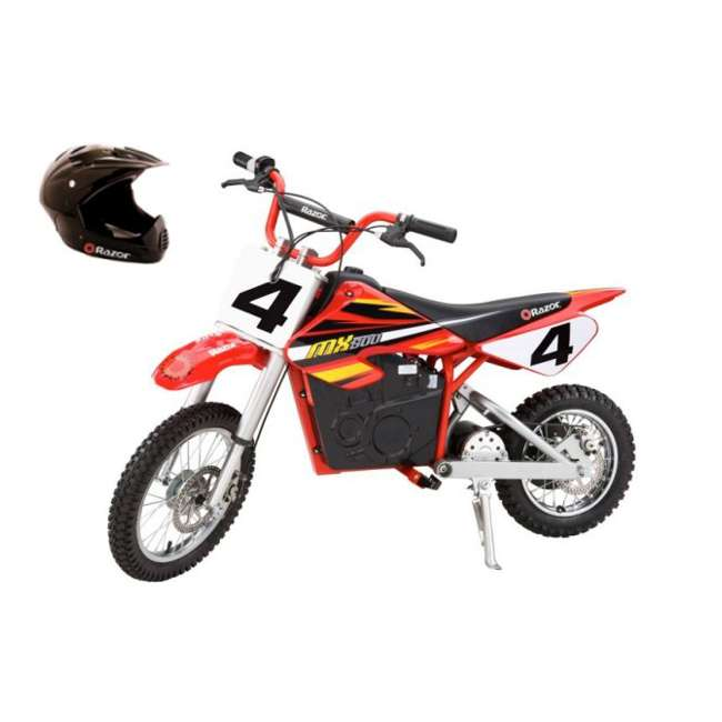 15128190 + 97775 Razor MX500 Dirt Rocket Moto Bike & Full Face Helmet