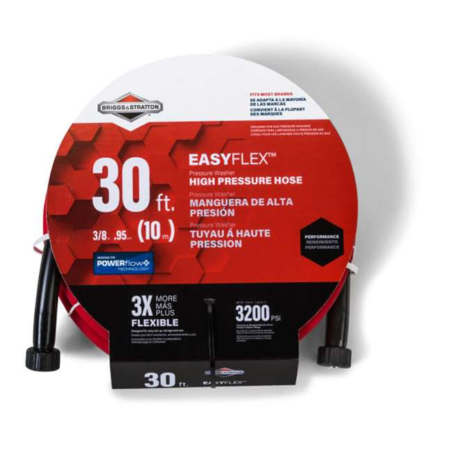 HOSE-6364 Briggs & Stratton 6364 3/8 Inch x 30 Foot EASYFlex Flexible Pressure Washer Hose
