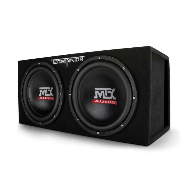 TNE212DV-U-B MTX 12-Inch 2000-Watt Max Car Audio Dual Loaded Subwoofer Box Enclosure (Used)