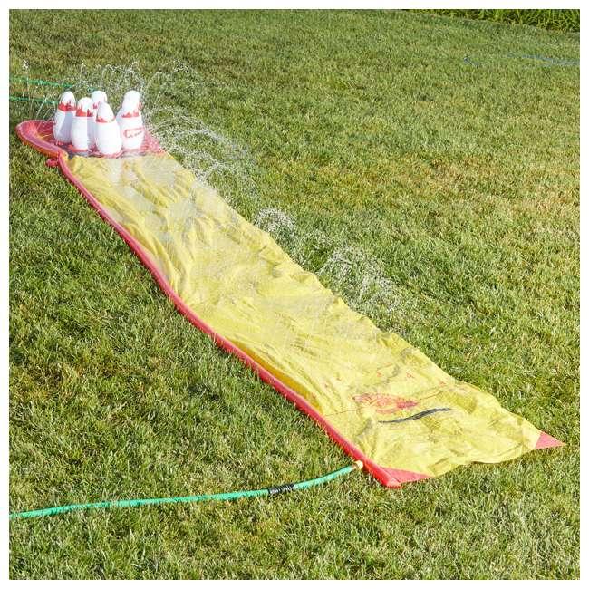 WMO-64703 Wham-O 64703 Splash 'N Bowl Outdoor Slip 'N Slide Sports with 6 Inflatable Pins 1