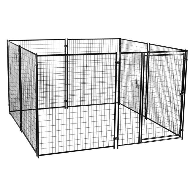 CL 69150-U-B Lucky Dog Large Modular Welded Wire Dog Kennel, 10 x 10 x 6 feet (Used)
