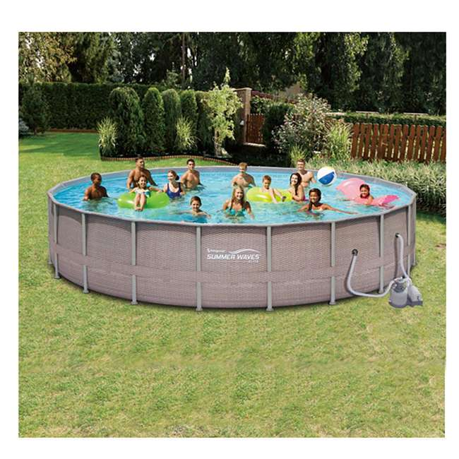 Summer waves elite 24 39 x 52 above ground frame pool set for Summer waves above ground pool review