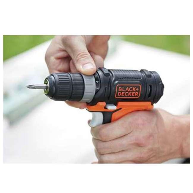 BDCK502C1 + 71-966 + BDMKIT101C Black & Decker Drill Driver Combo Kit & 66 Piece Bit Set & Picture Hanging Kit 7
