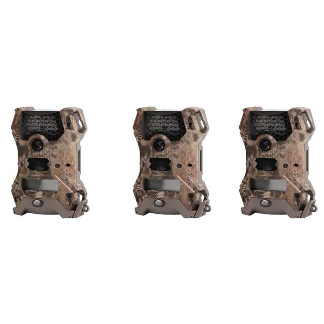3 x WGI-V12B14C Wildgame Innovations Vision Lightsout 12MP Trail Camera (3 Pack)