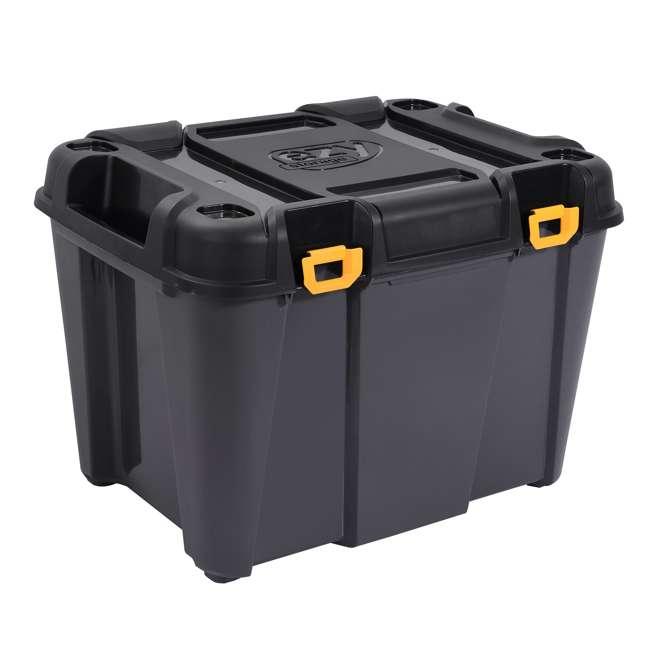 FBA31732 Ezy Storage 31732 Bunker 160 Liter Heavy Duty Storage Container Tub, Black/Gray