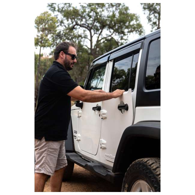JPJKW2D-RHG Rhinohide Jeep Wrangler JK 2-Door Magnetic Body Armor Panels, Rhinohide Gray 3