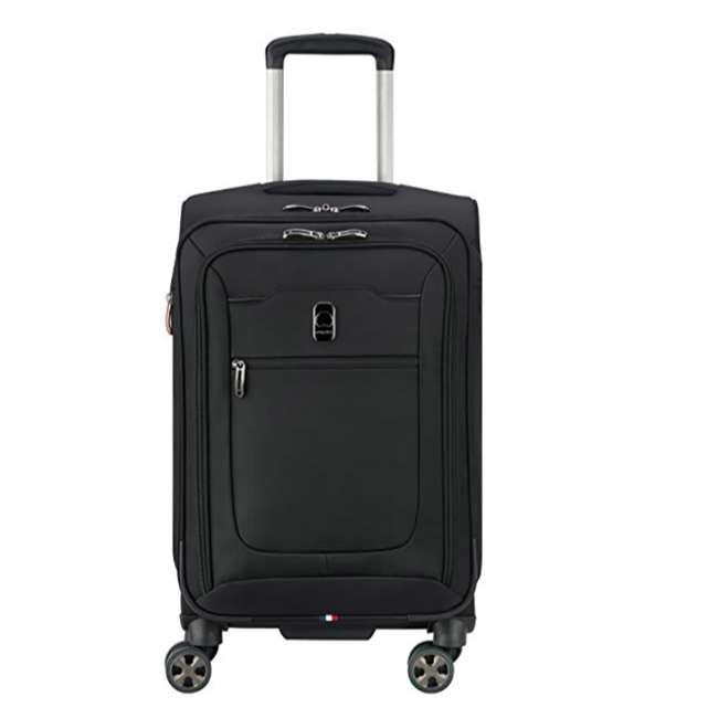 "40229180500 DELSEY Paris 21"" Expandable Spinner Upright Hyperglide Carry On Luggage, Black"
