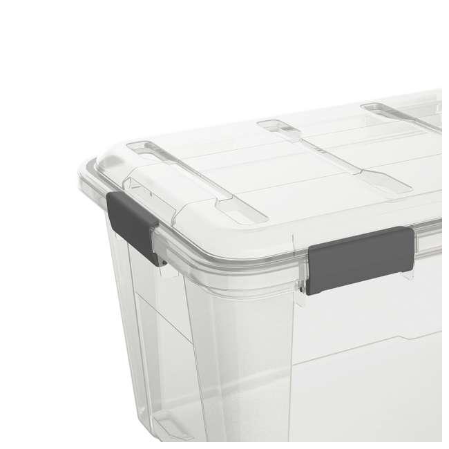FBA32227 Ezy Storage Weather Proof IP65 50 Liter Plastic Storage Container Bin Box w/ Lid 1
