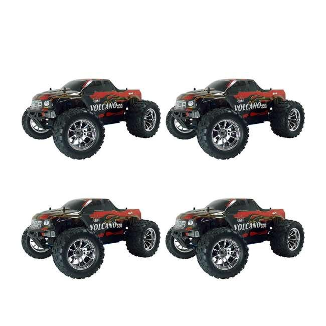 4 x VOLCANOS30-REDPU-88049-R Redcat Racing Volcano S30 Nitro RC Monster Truck (4 Pack)