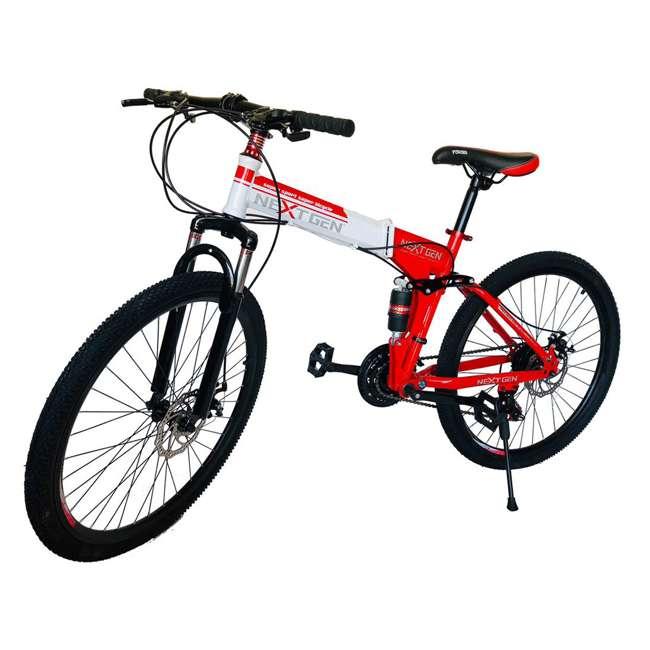 "MTB014-R NextGen 26"" 21 Speed Shimano Foldable Adult Hardtail Downhill Mountain Bike, Red"