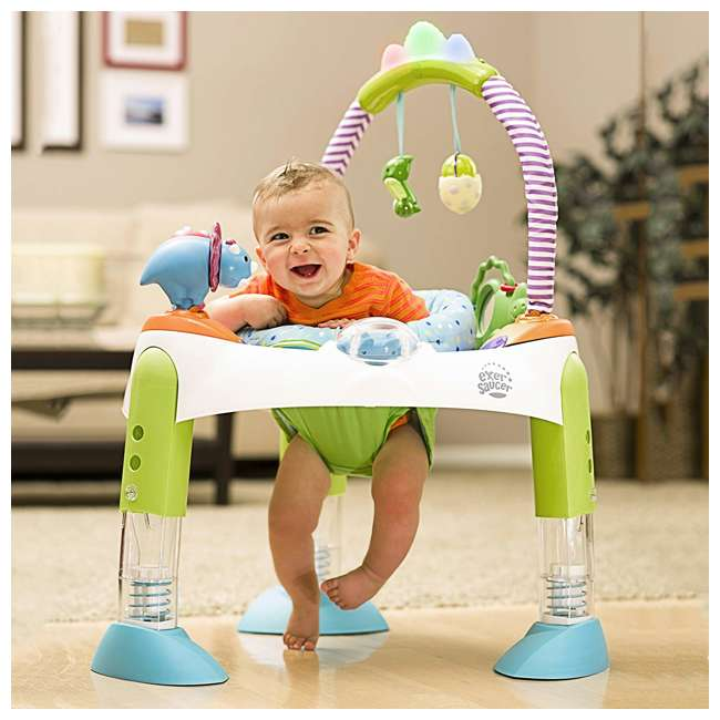 EVEN-61611769-U-A Evenflo Exersaucer Fast Fold & Go D is for Dino Baby Bouncer (Open Box) 6