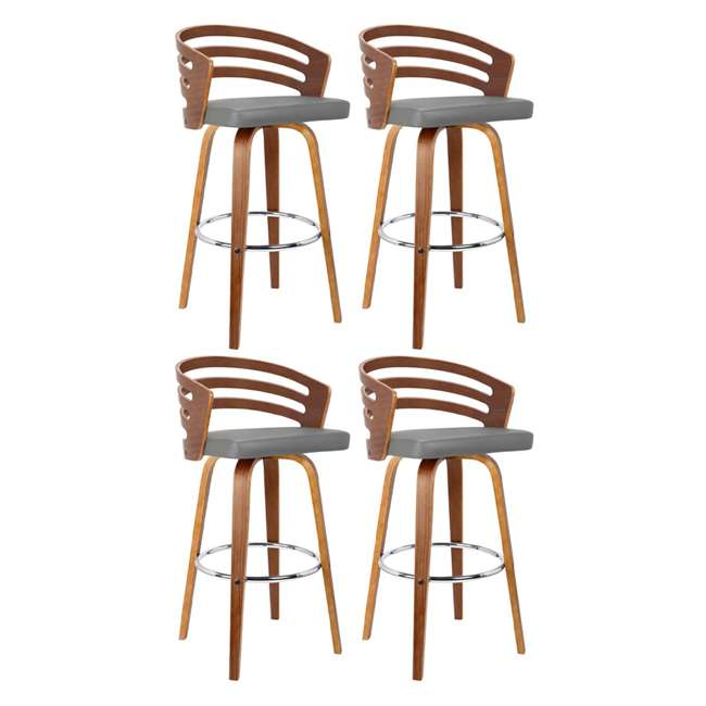 4 x LCJYBAGRWA30 Armen Living Jayden 30 Inch Mid Century Swivel Barstool Chair, Gray (4 Pack)