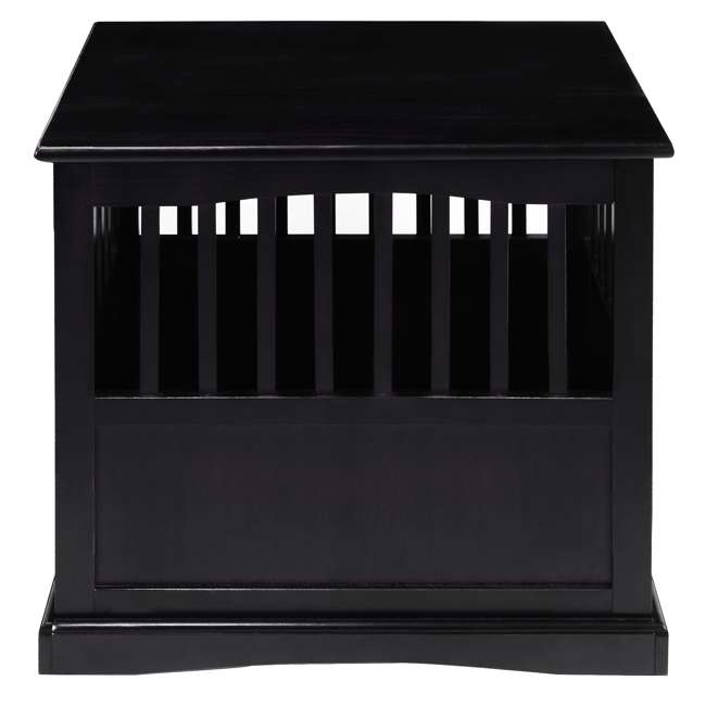 600-42 Casual Home Medium Pet Crate End Table, Black 2