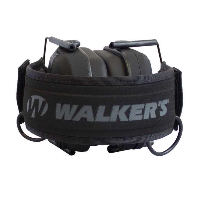 GWP-RSEMPAT-PUN Walker's Razor Slim Folding Protection Electronic Shooting Ear Muffs, Punisher 1