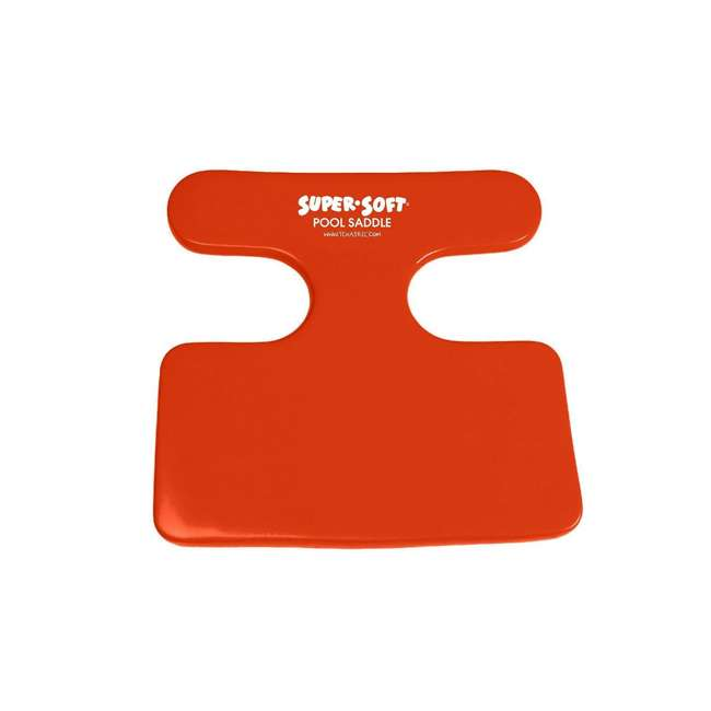8601326 + 8590148 TRC Recreation Foam Floating Saddle Seat Chairs, Bahama Blue and Caribbean Coral 5