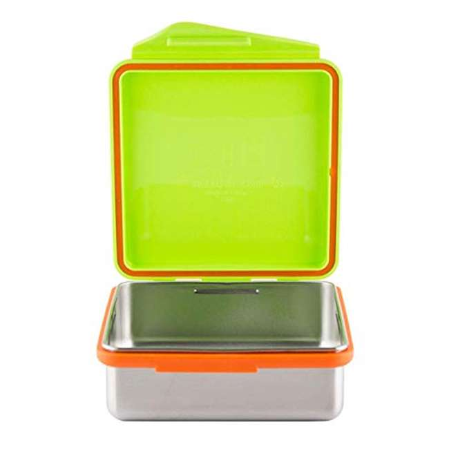894148002817 Kid Basix Safe Snacker Kids 23 Ounce Stainless Steel Lunch Box, Lime (2 Pack) 2