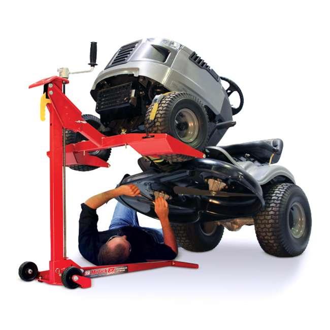 MJ45001-EZMAX-U-D MoJack Flat 450 lb Capacity Riding Lawn Tractor Mower Lift Jack, EZMAX (Damaged) 1