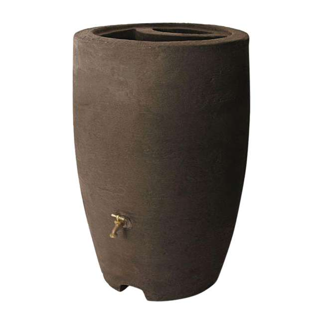 ALG-86312 Algreen Athena 50-Gallon Rain Water Collection Barrel, Brownstone