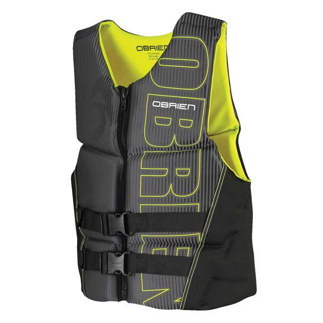 2161785-MW OBrien BioLite Series Men's Flex V Back Life Vest Size M, Yellow (2 Pack) 1
