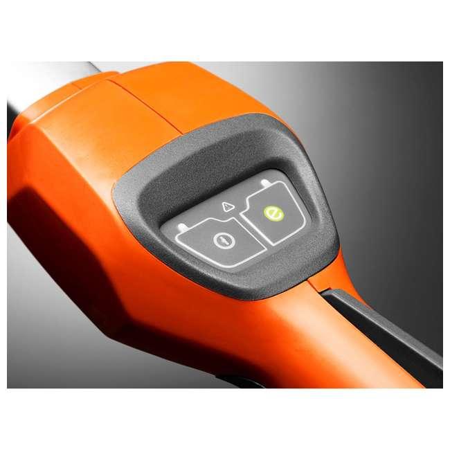 HV-TR-967098702 Husqvarna 115iL 36.5 Volt Straight Shaft Battery Powered String Trimmer, Orange 3