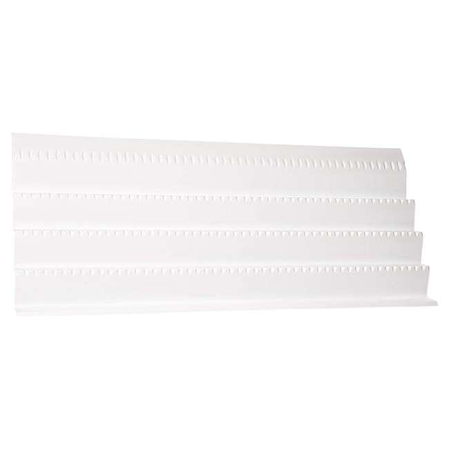 ST50-21W-52 Rev A Shelf Universal Spice Drawer Organizer Insert Tray, White (2 Pack) 1