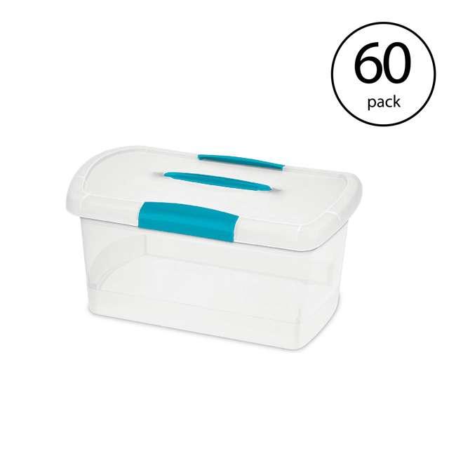 60 x 18748606 Sterilite Medium Nesting ShowOffs Clear File Box w/ Latches (60 Pack)
