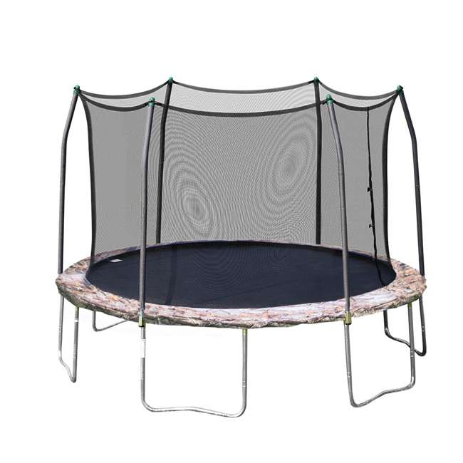 OWTC15 Skywalker Trampolines 15 Foot Round Outdoor Trampoline with Enclosure, Camo
