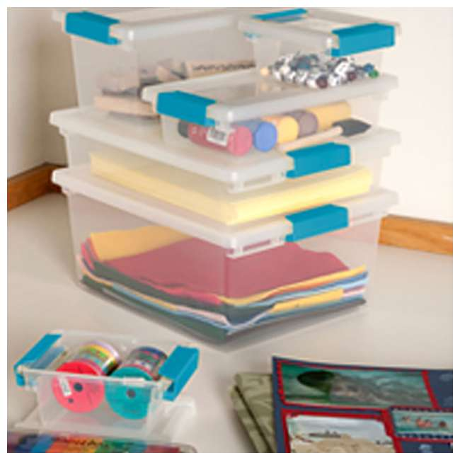36 x 19698606 Sterilite Mini Clip Box Clear w/ Blue Aquarium Latches (36 Pack) 4