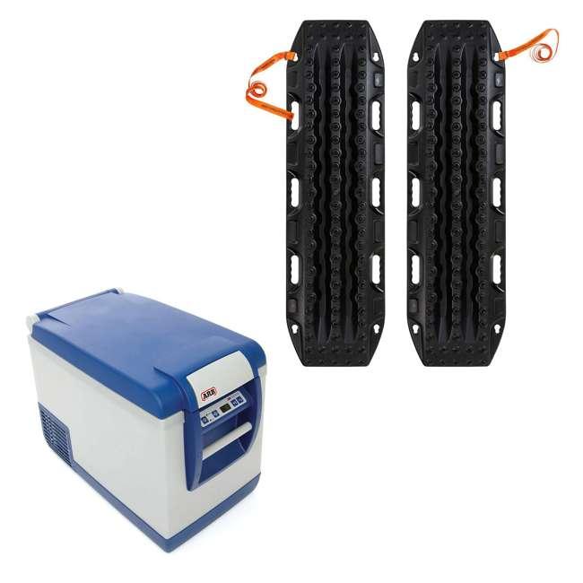 10800472-ARB + MTX02BK ARB Portable 50 Qt. Car Travel Fridge Freezer & MAXTRAX Vehicle Recovery Device