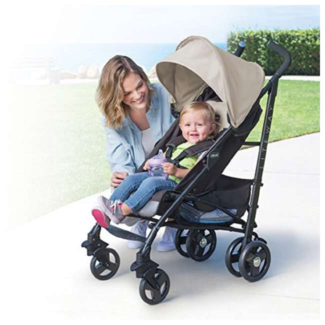 CHI-0707974561-U-A Chicco Liteway Compact Stroller w/ 3D Fold for Easy Transport, Almond (Open Box) 1