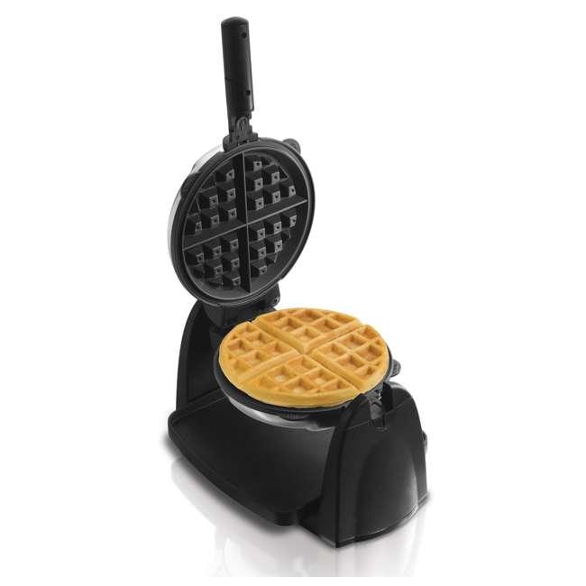 26030 + WAFFLE150 Hamilton Beach Removable Grid Belgian Waffle Maker & 150 Waffle Maker Recipes 9