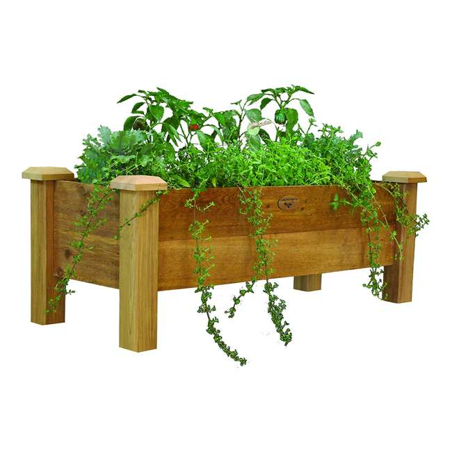 RPB 18-48 Gronomics Western Red Cedar Rustic Planter Box 18 x 48 x 19 Inches, Unfinished