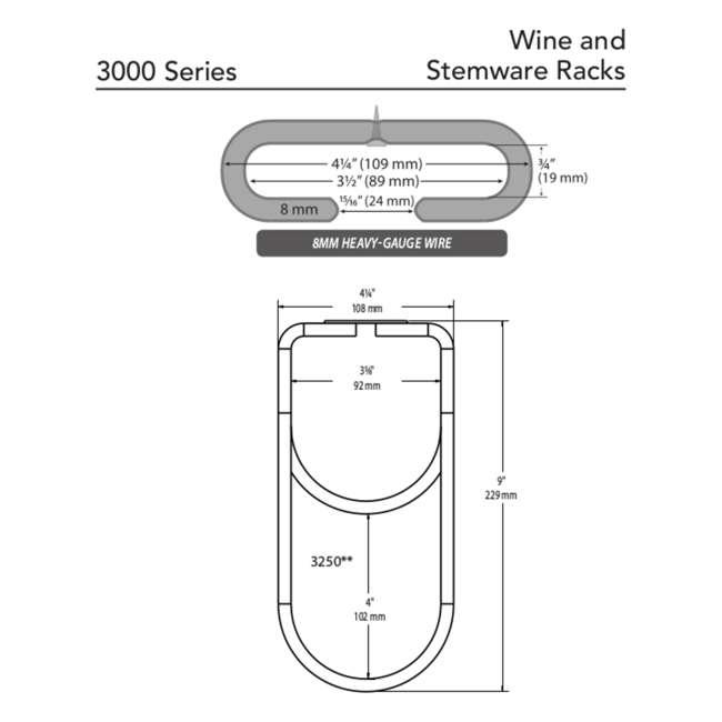 """3450-11ORB Rev-A-Shelf 3450-11ORB 11"""" Quad Under Cabinet Glass & Stemware Holder, Bronze 3"""