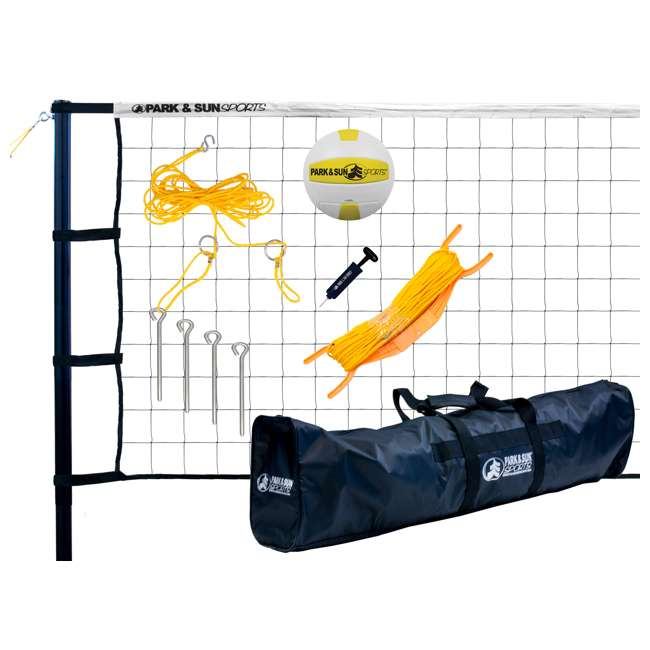 TP-179-WH-OB Park & Sun Sports Spectrum 179 Outdoor Volleyball Net Set (Open Box)